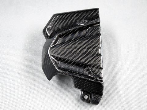 フロントスプロケットカバー FRP/黒(FB) A-TECH(エーテック) Ninja250(ニンジャ)13〜17年