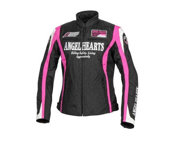 AHJ-7132 ナイロンジャケット ブラック/ピンク WSサイズ(レディース用) Angel Hearts(エンジェルハーツ)