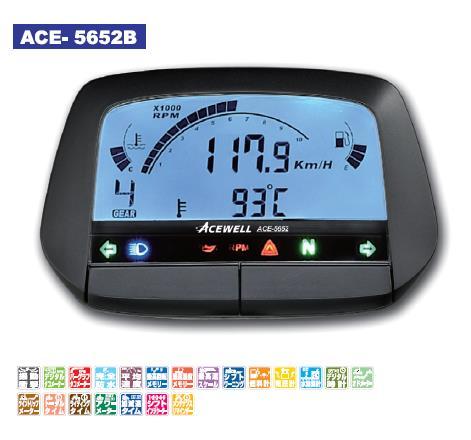 ACE-5652シリーズ 多機能デジタルメーター ブラック ACEWELL(エースウェル)