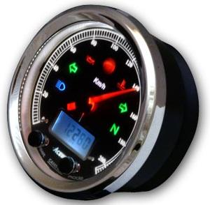 CA085シリーズ多機能クラシカルメーター 12000rPm(ブラックパネル) ACEWELL(エースウェル)