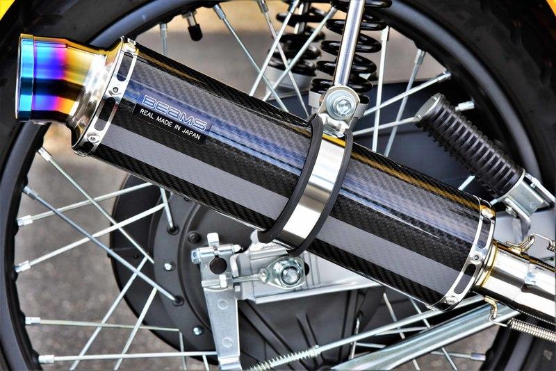 R-EVO マフラー カーボンサイレンサー ダウンタイプ 政府認証 BMS-R(ビームス) クロスカブ110(2BJ-JA45)
