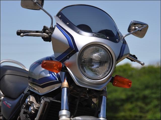 マスカロード イタリアンレッド ストライプ(R-157) スモーク/通常スクリーン CHIC DESIGN(シックデザイン) CB400SF VTEC(99〜01年)