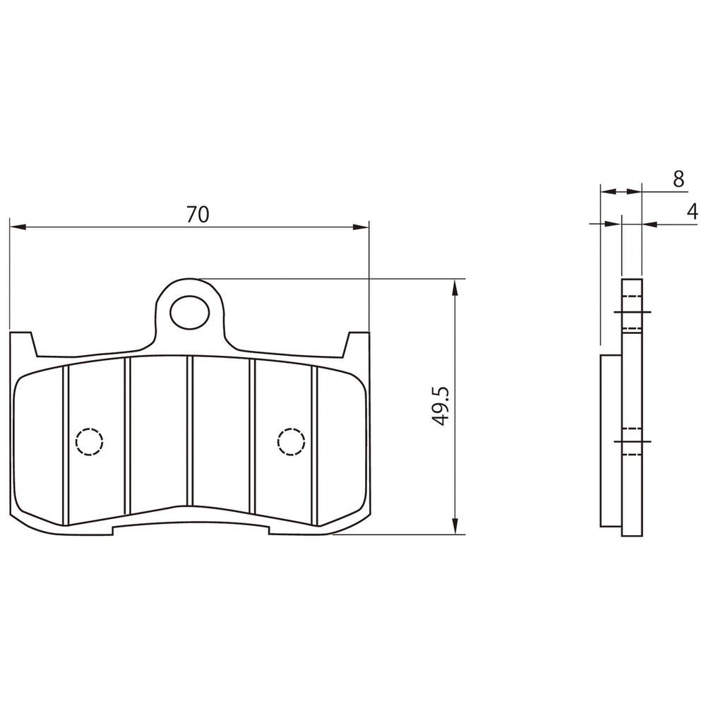 ゴールデンパッドχ(ブレーキパッド)フロント用 DAYTONA(デイトナ) Z800(13〜16年)
