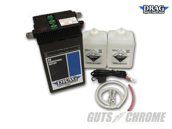 2113-0214 純正タイプ6Vバッテリー DRAG SPECIALTIES(ドラッグスペシャリティーズ)