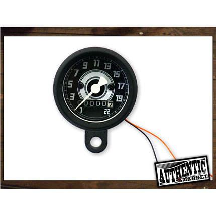 スピードメーター48mm2:1 ブラック AUTHENTIC MARKET(オーセンティックマーケット)