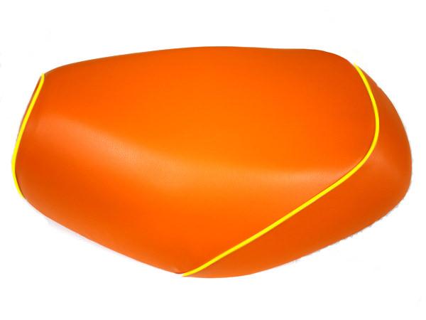 被せタイプ 国産シートカバー オレンジ/黄色パイピング GRONDEMENT(グロンドマン) タクト(TACT)AF30