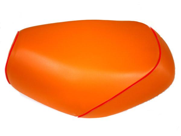 被せタイプ 国産シートカバー オレンジ/赤パイピング GRONDEMENT(グロンドマン) タクト(TACT)AF30
