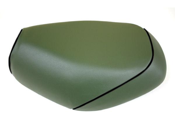 被せタイプ 国産シートカバー ダークグリーン/黒パイピング GRONDEMENT(グロンドマン) タクト(TACT)AF30