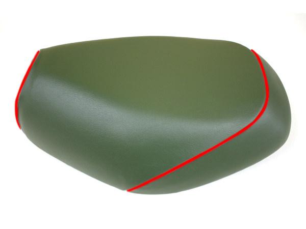 被せタイプ 国産シートカバー ダークグリーン/赤パイピング GRONDEMENT(グロンドマン) タクト(TACT)AF30