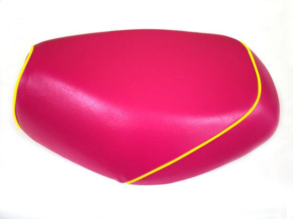 被せタイプ 国産シートカバー ピンク/黄色パイピング GRONDEMENT(グロンドマン) タクト(TACT)AF30