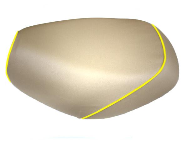 被せタイプ 国産シートカバー ベージュ/黄色パイピング GRONDEMENT(グロンドマン) タクト(TACT)AF30
