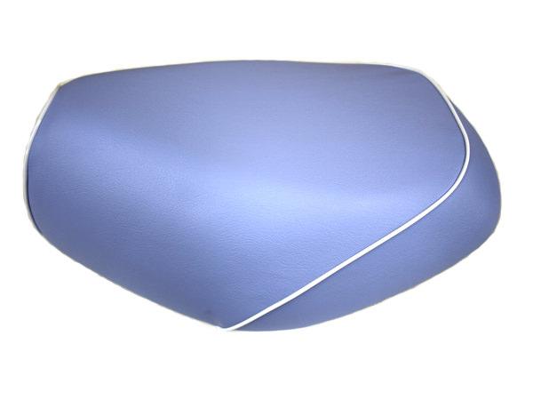 被せタイプ 国産シートカバー ライトブルー/白パイピング GRONDEMENT(グロンドマン) タクト(TACT)AF30