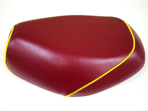 被せタイプ 国産シートカバー ワインレッド/黄色パイピング GRONDEMENT(グロンドマン) タクト(TACT)AF30