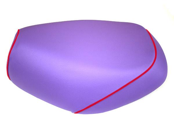 被せタイプ 国産シートカバー パープル/赤パイピング GRONDEMENT(グロンドマン) グランドアクシス100(GRAND AXIS)