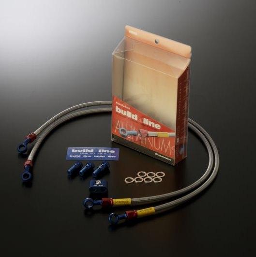 ビルドアライン ボルトオンブレーキホースキット フロント用 Sダイレクト ブルー/レッド クリアホース GOODRIDGE(グッドリッジ) Ninja250R(ニンジャ250R)08〜12年
