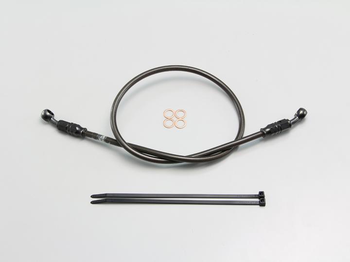 フルステンレス製 ブレーキホース ブラック Pタイプ 長さ140cm HURRICANE(ハリケーン)