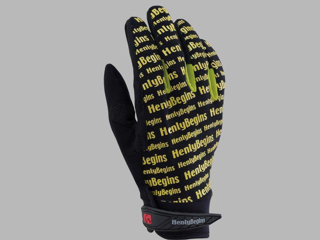 HBG-006 ロゴグローブ ブラック/イエロー/イエロー XLサイズ HenlyBegins(ヘンリービギンズ)