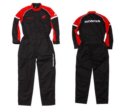 0SYTN-S43-K レーシングピットスーツLS(長袖) ブラック Lサイズ HONDA(ホンダ)