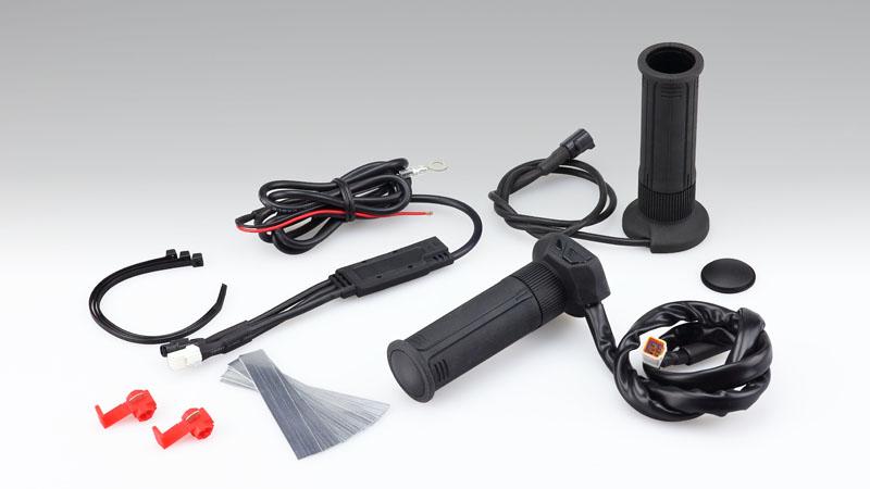グリップヒーター GH07 標準グリップ(22.2mm) 全長115mm スイッチ一体タイプ KIJIMA(キジマ)