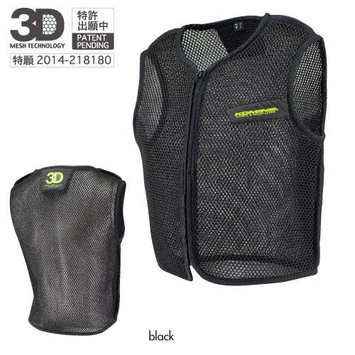 JK-084 3Dエアメッシュインナーベスト ブラック 2XLサイズ コミネ(KOMINE)