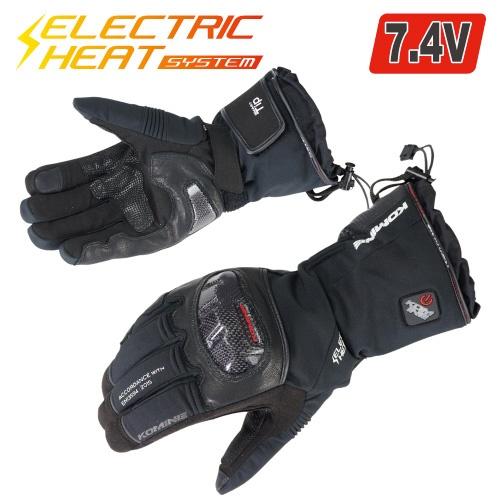 EK-200 08-200 カーボンプロテクトエレクトリックグローブ ブラック Sサイズ コミネ(KOMINE)