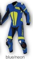 S-51 02-051 チタニウムレザースーツ ブルー/ネオン 4XLBサイズ コミネ(KOMINE)