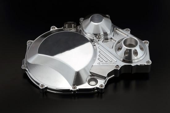 クラッチカバー TYPE2 ポリッシュ仕上げ アルミスライダー付 K-FACTORY(ケイファクトリー) ZRX1200 DAEG(ダエグ)