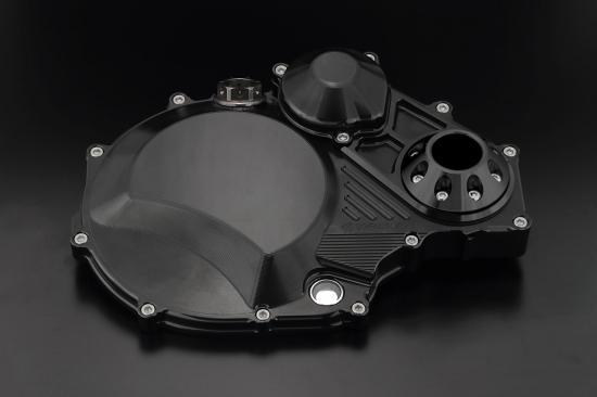 クラッチカバー TYPE2 スーパーブラック アルミスライダー付 K-FACTORY(ケイファクトリー) ZRX1200 DAEG(ダエグ)