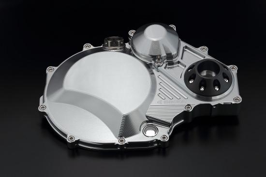 クラッチカバー TYPE2 シルバー ジュラコンスライダー付 K-FACTORY(ケイファクトリー) ZRX1200 DAEG(ダエグ)