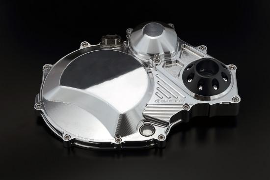 クラッチカバー TYPE2 ポリッシュ仕上げ ジュラコンスライダー付 K-FACTORY(ケイファクトリー) ZRX1200 DAEG(ダエグ)