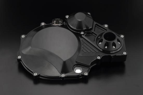 クラッチカバー TYPE2 スーパーブラック ジュラコンスライダー付 K-FACTORY(ケイファクトリー) ZRX1200 DAEG(ダエグ)