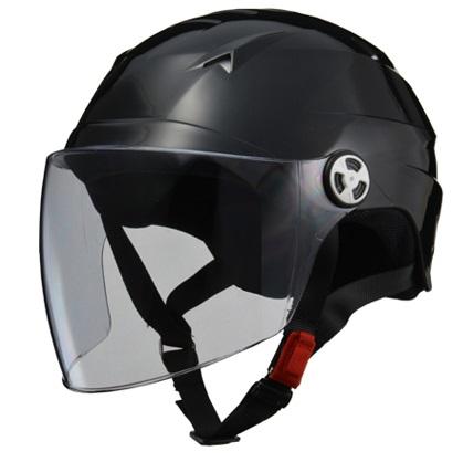 SERIO RE-41 開閉シールド付きハーフヘルメット ブラック LL(61〜62cm未満) リード工業