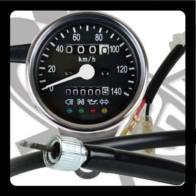 サイドマウントメーターキット Φ60 インジケーターランプ付き GOODS(モーターガレージグッズ) ドラッグスター400(DRAGSTAR)〜99年