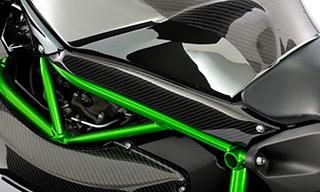 タンクサイドカバー(左右セット) 綾織りカーボン製 MAGICAL RACING(マジカルレーシング) Ninja H2