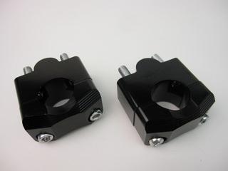 アルミ製 ハンドルクランプ Φ28.6mm ブラック MINIMOTO(ミニモト)  GROM(グロム)