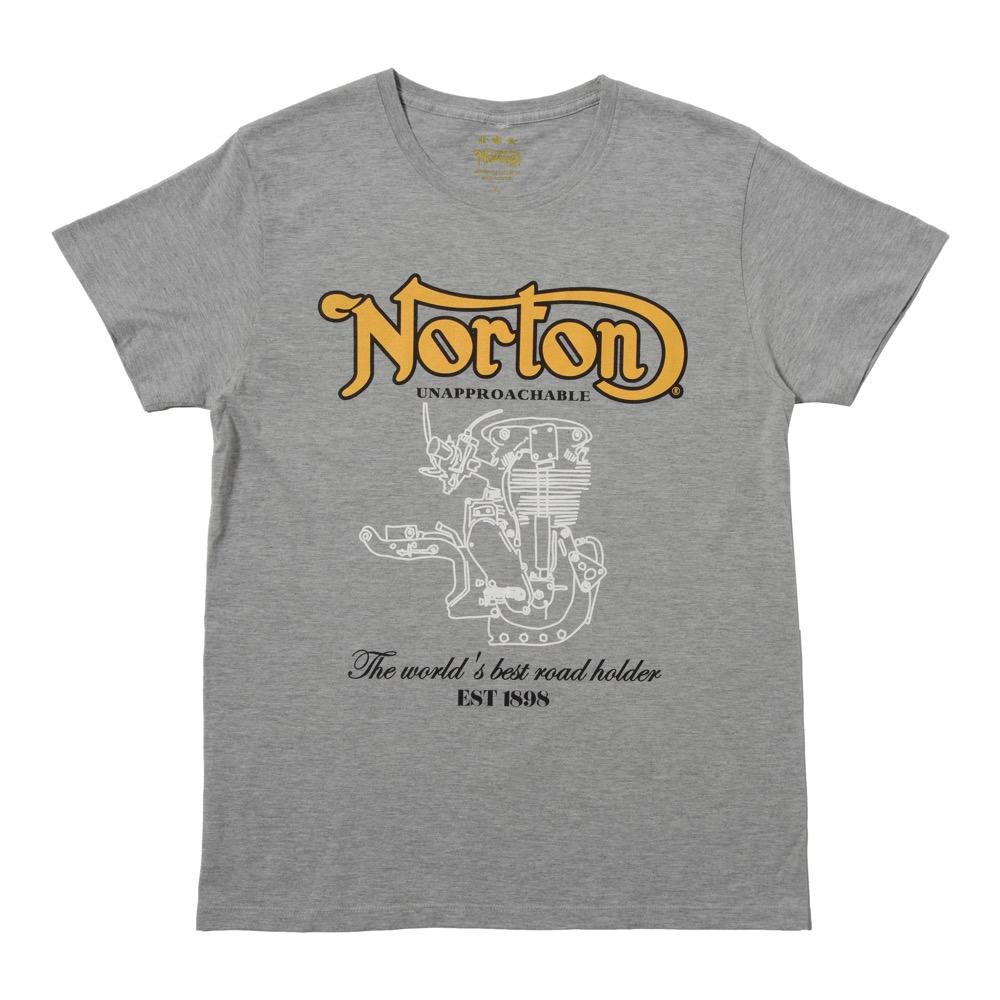 Tシャツ NRT03 グレー XLサイズ Norton(ノートン)