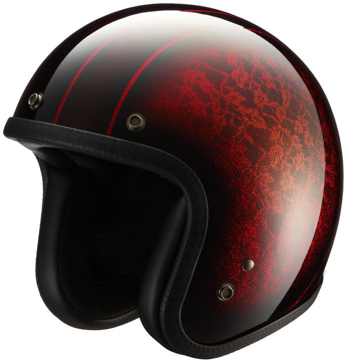 ジェットヘルメット NHL6-12 レッド フリーサイズ(57-59cm) NIKITOR(ニキトー)