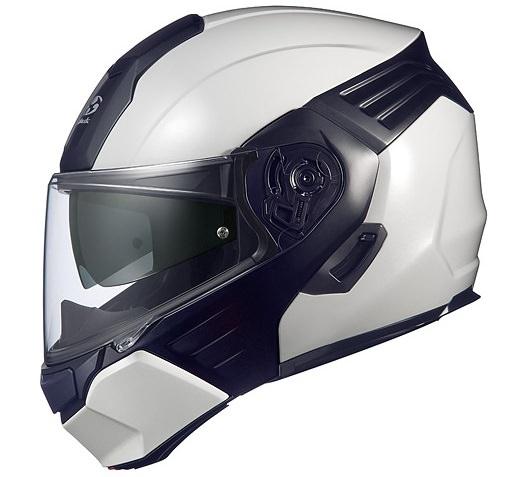 KAZAMI(カザミ)ホワイトメタリック/ブラック Mサイズ システムヘルメット OGK
