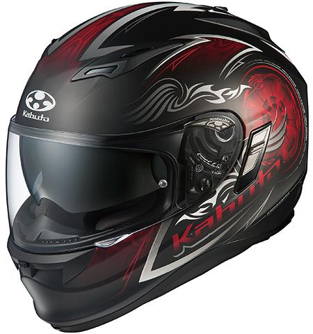 カムイ2 ブレイズ フルフェイスヘルメット フラットブラックレッド Lサイズ OGK