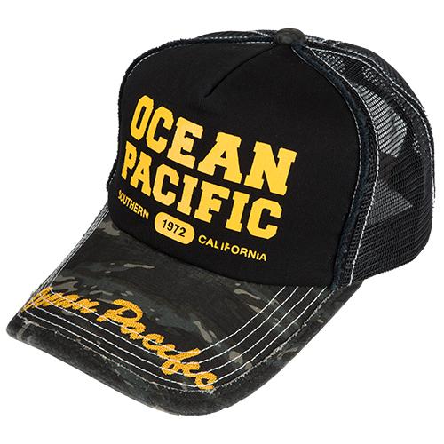 OPG14379700 ダメージメッシュキャップ カモ/ブラック ocean pacific(オーシャンパシフィック)