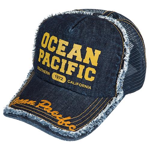 OPG14379700 ダメージメッシュキャップ デニム ocean pacific(オーシャンパシフィック)