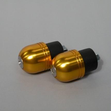 カワサキ車用バーエンド(ボルト径5mm/外径Φ22mm) ゴールド POSH(ポッシュ) バリオス(BALIUS)・II