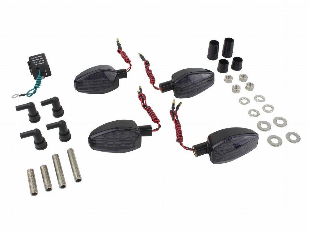 ライトウェイトLEDウインカーキット ブラックボディ/スモークレンズ POSH(ポッシュ) GSX250R(17〜18年)