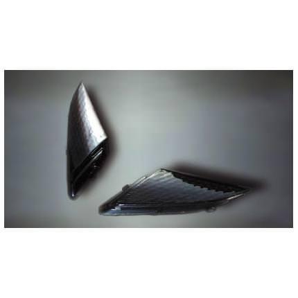 スモークレンズセット Fウインカー(バルブ付) ルーク(LUKE) マジェスティ(MAJESTY)250(00〜06年)
