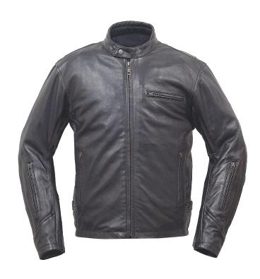 RA5035 ベンテッドライディングレザージャケットFP ブラック Lサイズ ラフアンドロード(Rough&Road)
