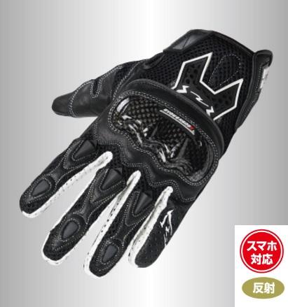 RR8418 エアスルーアーマーグローブ(スマホ対応) ブラック ラフアンドロード(Rough&Road)