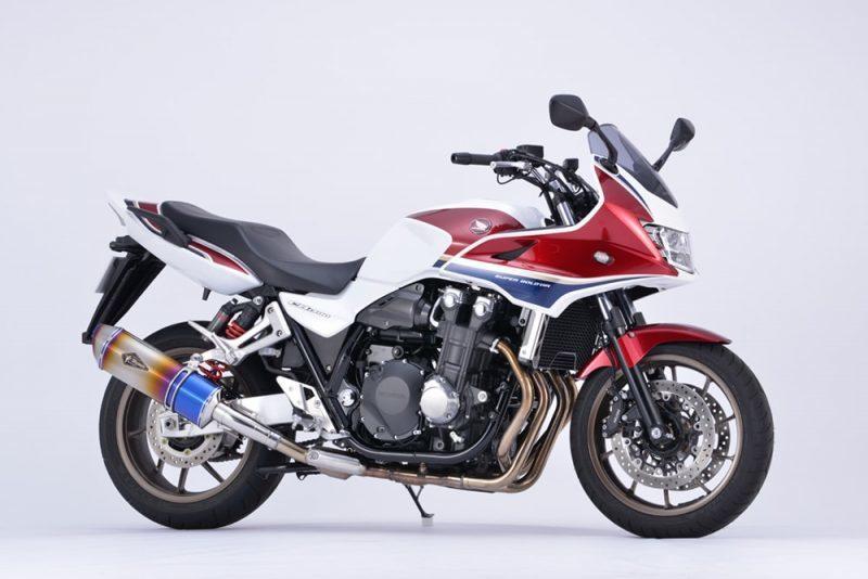リアルスペック スリップオンマフラー シングル チタンドラッグブルー r's gear(アールズギア) CB1300SF・SB(18年)