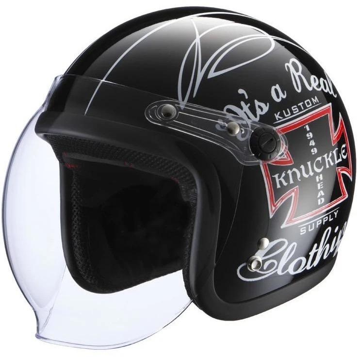 KNUCKLE HEAD KUSTOMCROSS2 ヘルメット ブラック RIDEZ(ライズ)