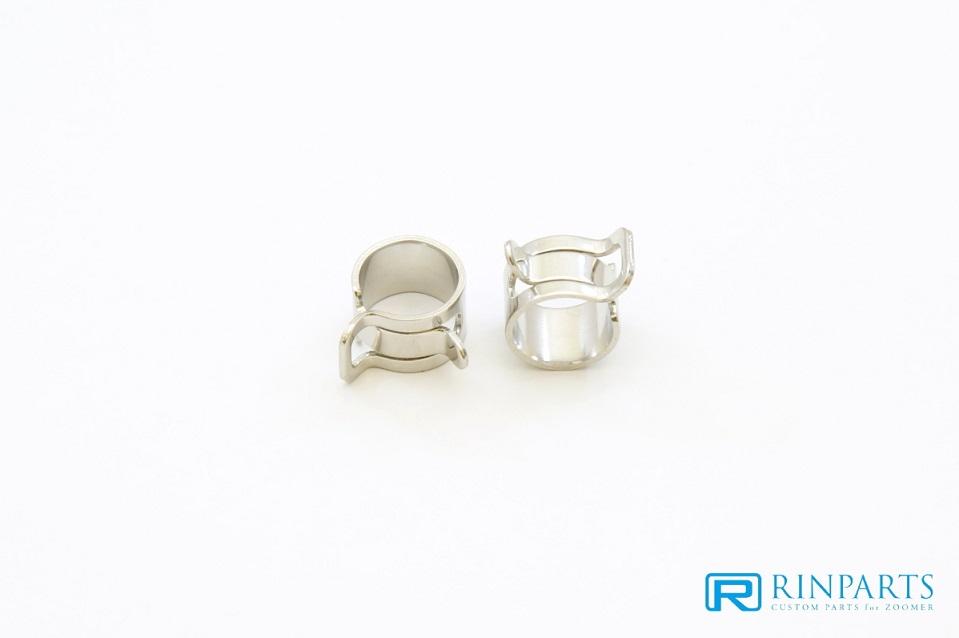 メッキホースクリップ 10mm 2個SET RinParts(リンパーツ)