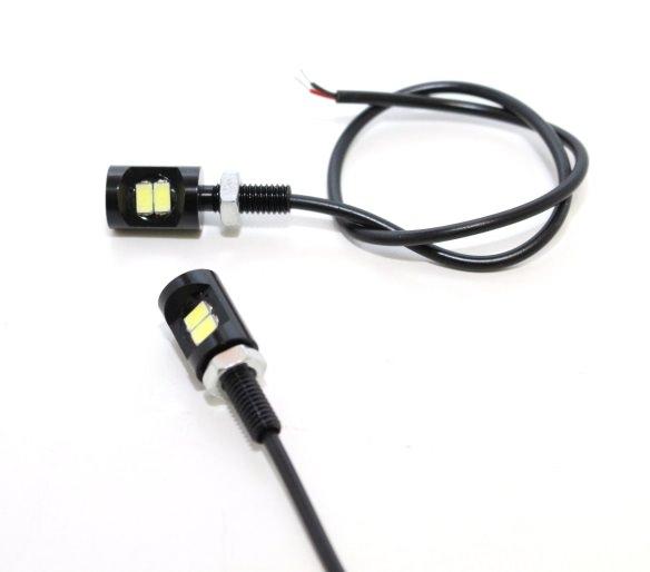 LEDナンバー灯 Ver2 ブラック RinParts(リンパーツ) ズーマー(ZOOMER)
